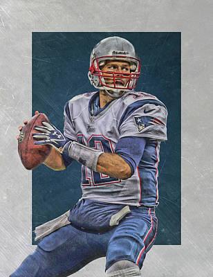 Tom Brady New England Patriots Art Poster