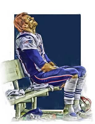 Tom Brady New England Patriots Oil Art Poster