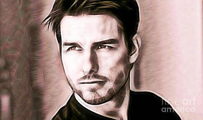 Tom Cruise Collection Poster by Marvin Blaine