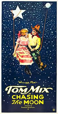 Tom Mix In Chasing The Moon 1922 Poster