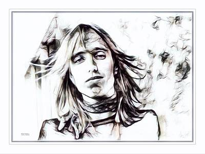 Tom Petty Illustration  Poster by Scott Wallace
