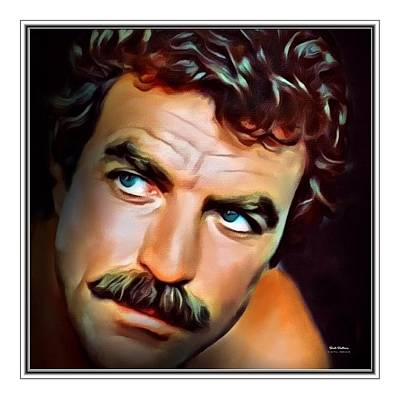 Tom Selleck Border Print  Poster by Scott Wallace