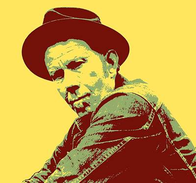 Tom Waits Pop Art Poster by Dan Sproul