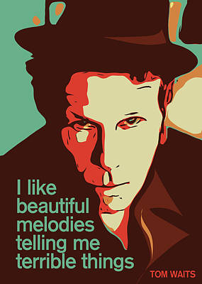 Tom Waits Poster by Greatom London