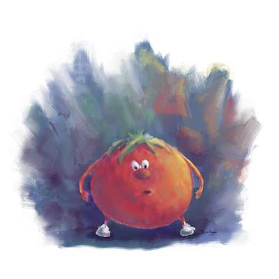 Tomato Dismay Poster by Dana Alfonso