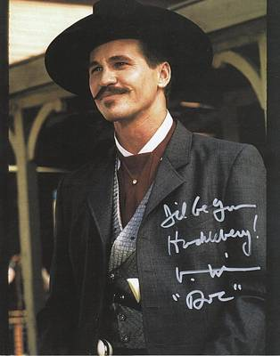 Tombstone Doc Holliday Val Kilmer Autographed Poster