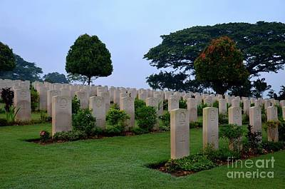 Tombstones Of Soldiers At Kranji Commonwealth War Cemetery Graveyard Singapore Poster by Imran Ahmed