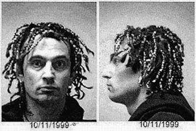 Tommy Lee Motley Crue Mug Shot Black And White Horizontal Poster by Tony Rubino