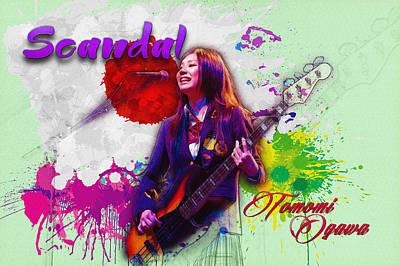 Tomomi Ogawa - Bass Guitar Poster by Don Kuing