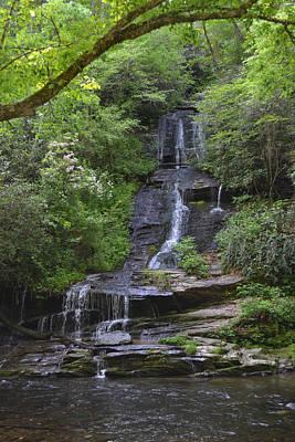 Tom's Branch Falls On Deep Creek Poster