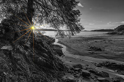 Tonquin Beach Sun Rays Poster by Mark Kiver