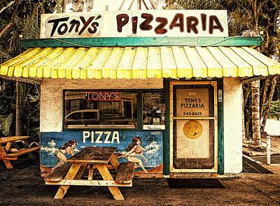 Tony's Pizzaria Poster by Ron Regalado