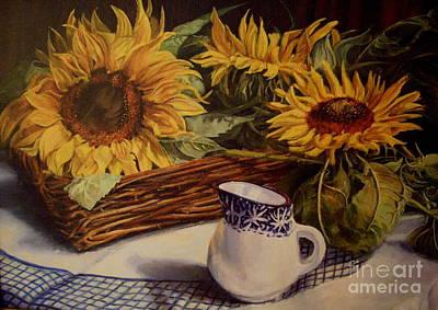 Tony's Sunflowers Poster