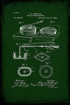 Tool For Frying Batter Patent Drawing 1c Poster