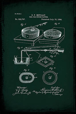 Tool For Frying Batter Patent Drawing 1d Poster