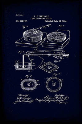 Tool For Frying Batter Patent Drawing 1e Poster