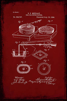 Tool For Frying Batter Patent Drawing  Poster