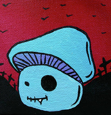 Toothed Zombie Mushroom 2 Poster