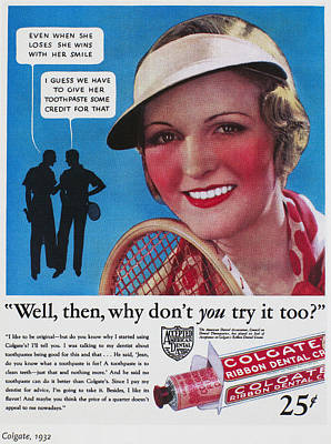 Toothpaste Ad, 1932 Poster