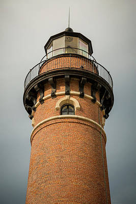 Poster featuring the photograph Top Of Little Sable Point Lighthouse by Adam Romanowicz