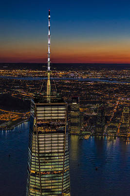 Top The World Trade Center Nyc Poster by Susan Candelario