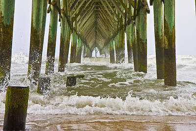 Topsail Island Pier Poster by Betsy Knapp