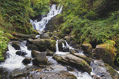 Torc Waterfall In Killarney National Poster by Ken Welsh