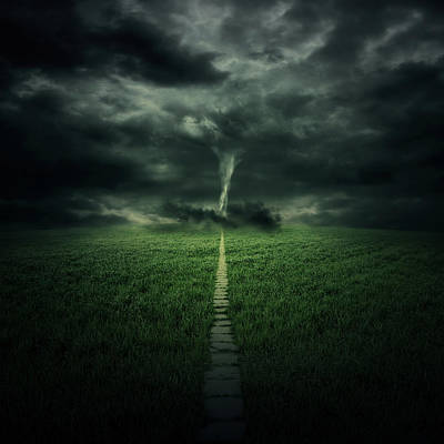 Tornado Poster by Zoltan Toth