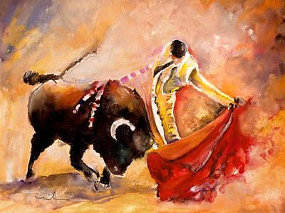 Toro Acuarela Poster