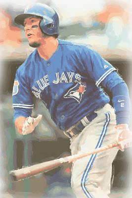 Toronto Blue Jays Troy Tulowitzki Poster by Joe Hamilton