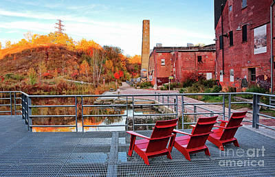 Poster featuring the photograph Toronto Brickworks Autumn View by Charline Xia