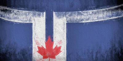 Poster featuring the digital art Toronto Canada City Flag by JC Findley