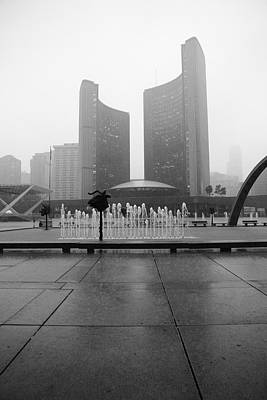 Toronto City Hall Superstorm July 8 2013 Poster by Kreddible Trout