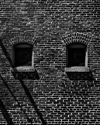 Poster featuring the photograph Toronto Distillery District Windows No 1 by Brian Carson