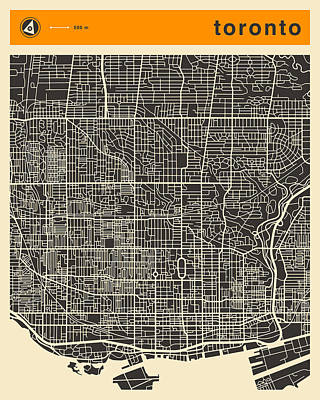 Toronto Map Poster by Jazzberry Blue