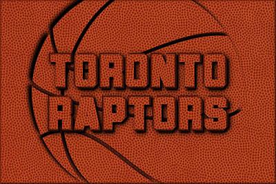 Toronto Raptors Leather Art Poster by Joe Hamilton
