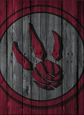 Toronto Raptors Wood Fence Poster by Joe Hamilton