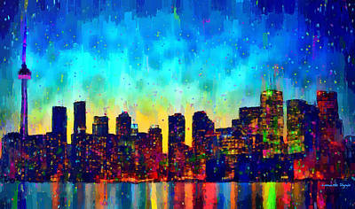 Toronto Skyline 10 - Da Poster