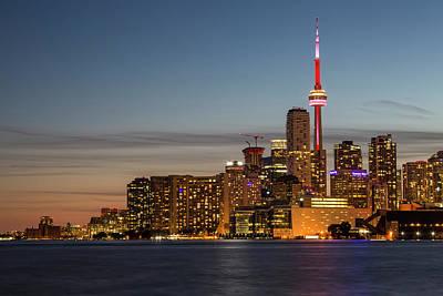 Toronto Skyline At Dusk Poster