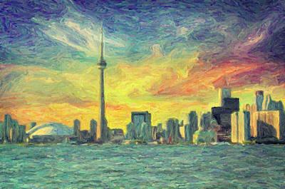 Toronto  Poster by Taylan Apukovska
