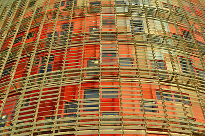 Poster featuring the photograph Torre Agbar Modern Facade by Marek Stepan