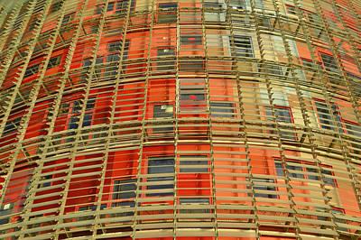 Torre Agbar Modern Facade Poster
