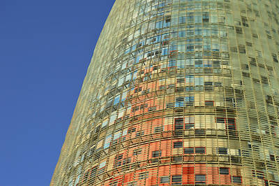 Poster featuring the photograph Torre Agbar  by Marek Stepan