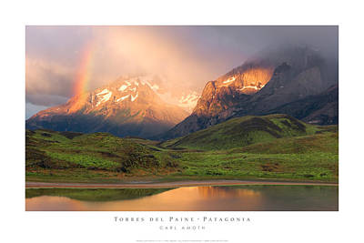 Torres Del Paine - Patagonia Poster by Carl Amoth