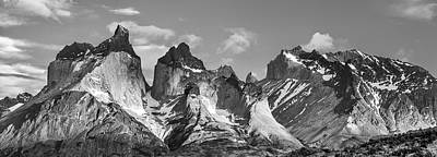 Torres Del Paine National Park - Panoramic Patagonia Photograph Poster by Duane Miller
