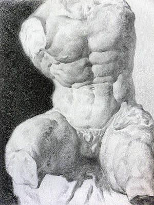 Poster featuring the drawing Torso 1 by Valeriy Mavlo