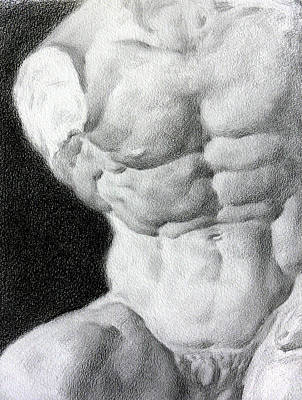 Poster featuring the drawing Torso 1a by Valeriy Mavlo