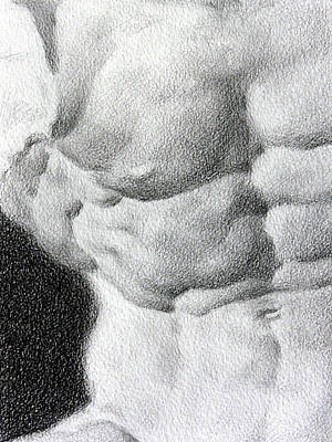 Poster featuring the drawing Torso 1b by Valeriy Mavlo