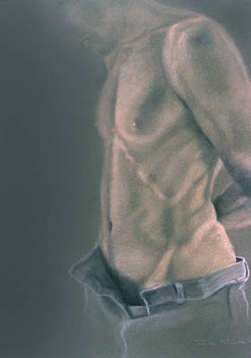 Torso With Jeans Poster by John Clum