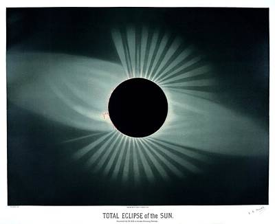 Total Solar Eclipse, 1878 Poster by Science, Industry And Business Librarynew York Public Library